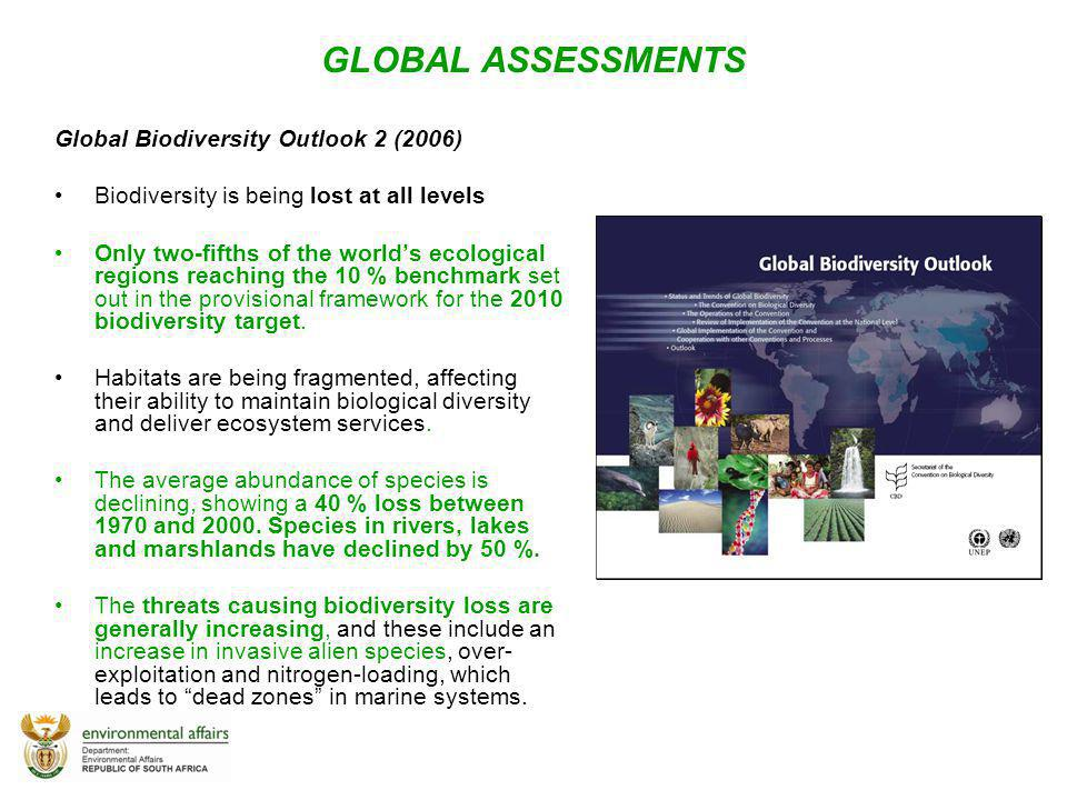 GLOBAL ASSESSMENTS Global Biodiversity Outlook 2 (2006)