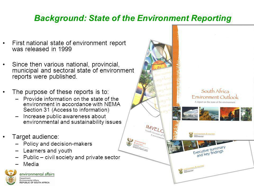 Background: State of the Environment Reporting
