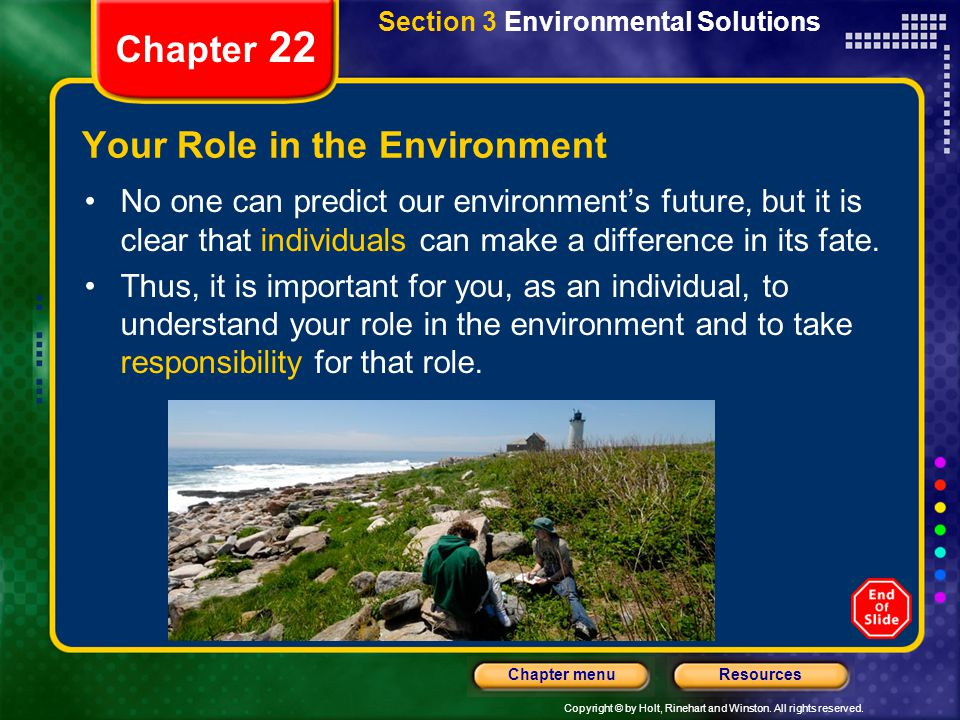 Your Role in the Environment