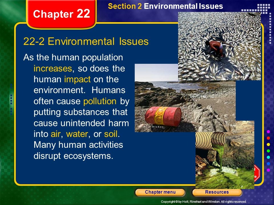 22-2 Environmental Issues