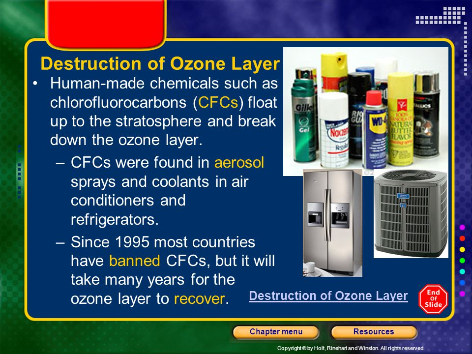 Destruction of Ozone Layer