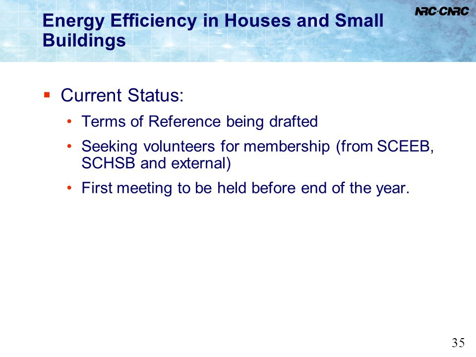 Energy Efficiency in Houses and Small Buildings