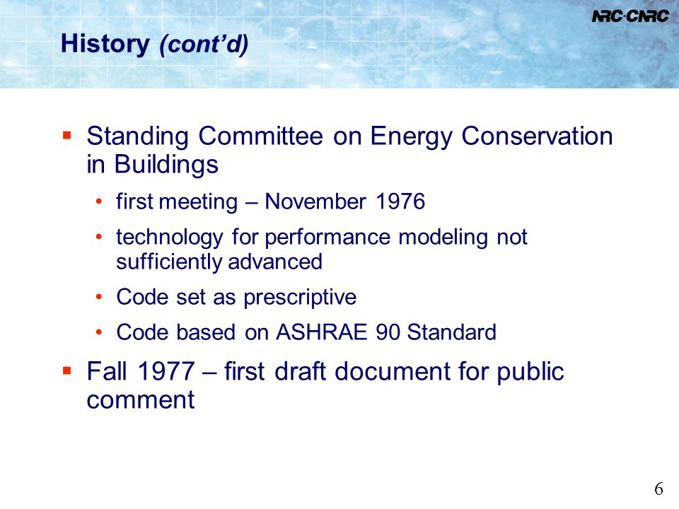 Standing Committee on Energy Conservation in Buildings