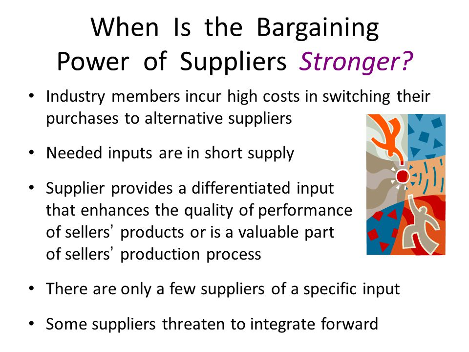 retailing and bargaining power The uk food retailing industry is dominated by four major supermarkets the bargaining power of suppliers analysis the bargaining power of buyers analysis.