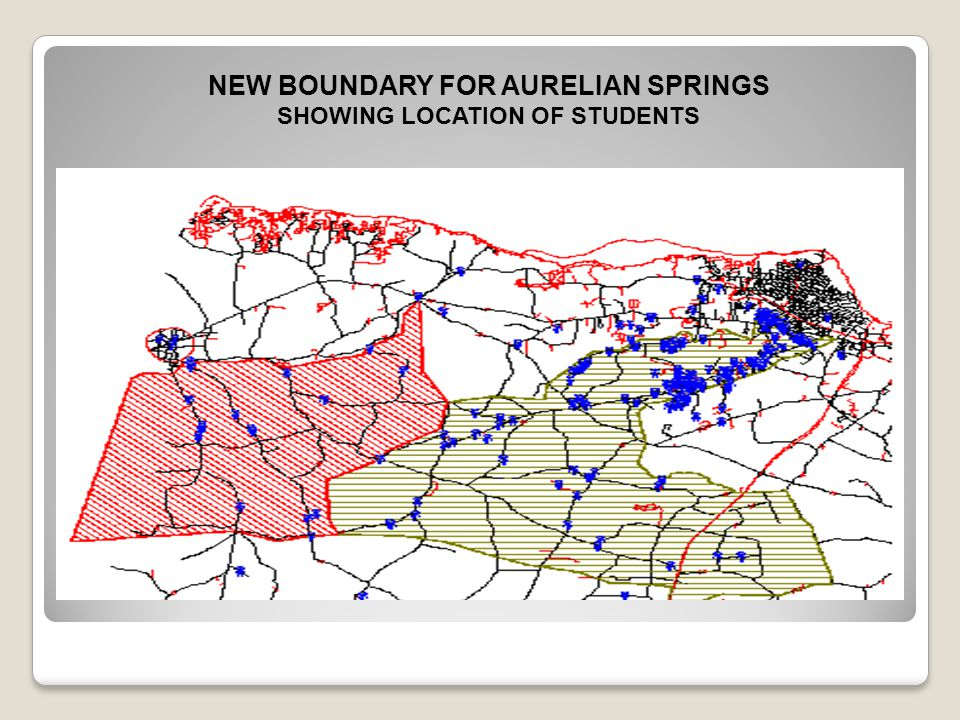 NEW BOUNDARY FOR AURELIAN SPRINGS