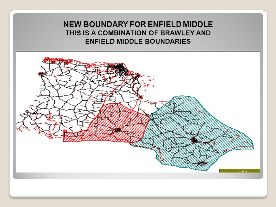THIS IS A COMBINATION OF BRAWLEY AND ENFIELD MIDDLE BOUNDARIES