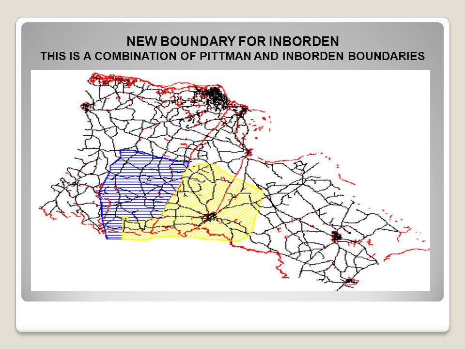 THIS IS A COMBINATION OF PITTMAN AND INBORDEN BOUNDARIES