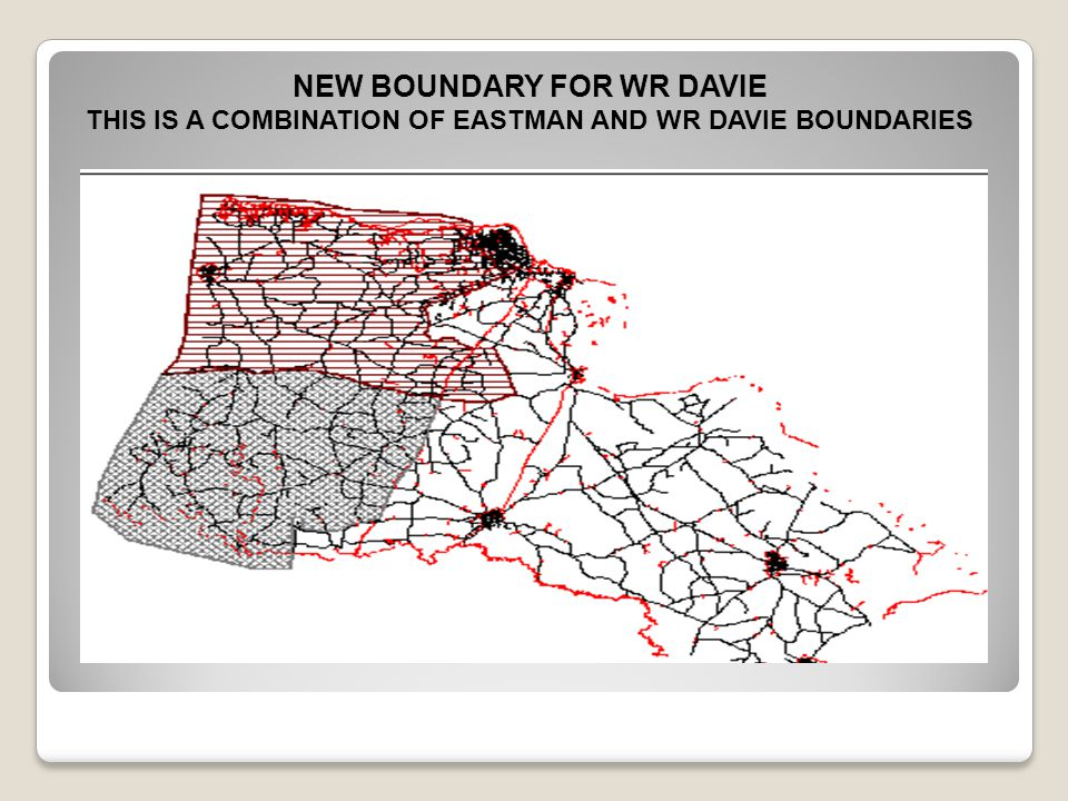 THIS IS A COMBINATION OF EASTMAN AND WR DAVIE BOUNDARIES