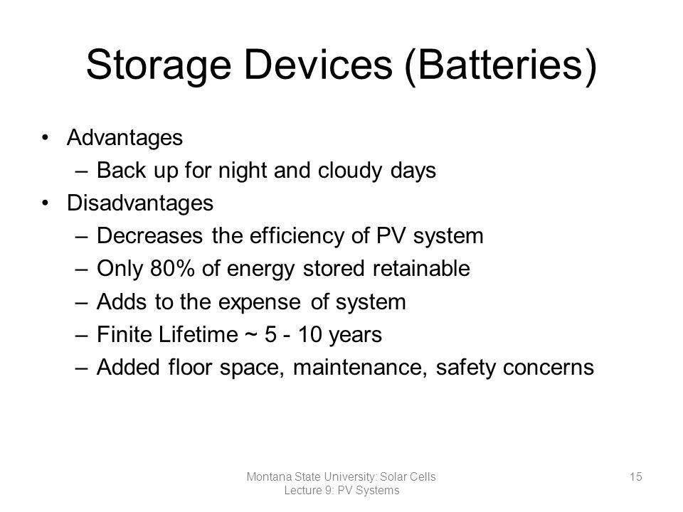 Storage Devices (Batteries)