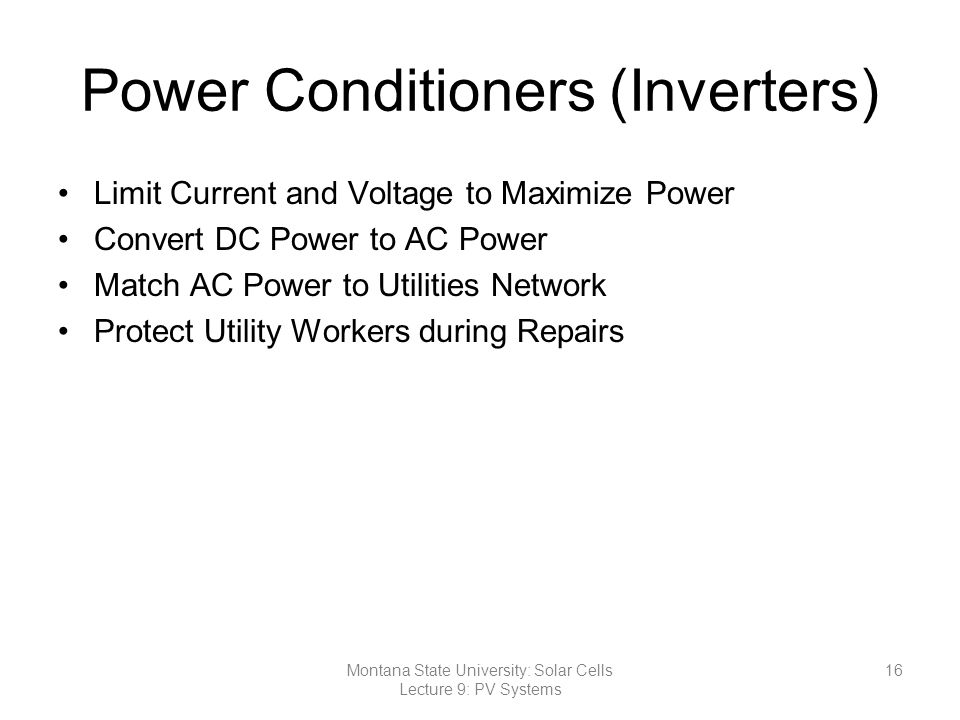 Power Conditioners (Inverters)