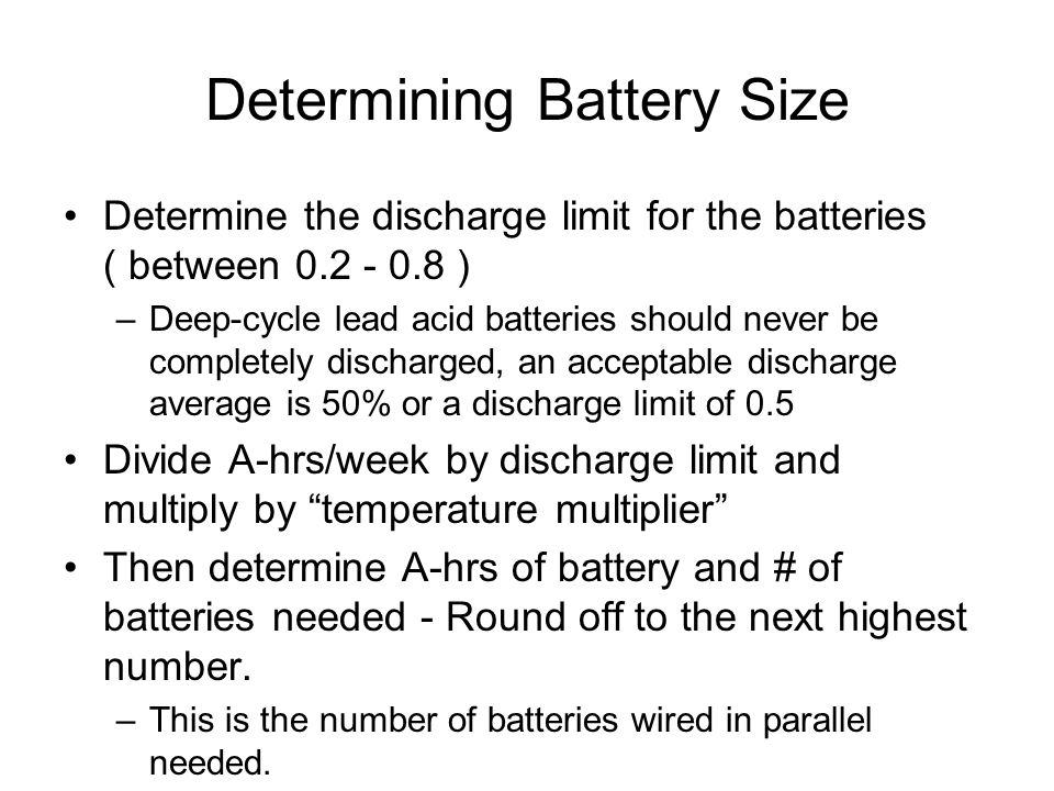 Determining Battery Size