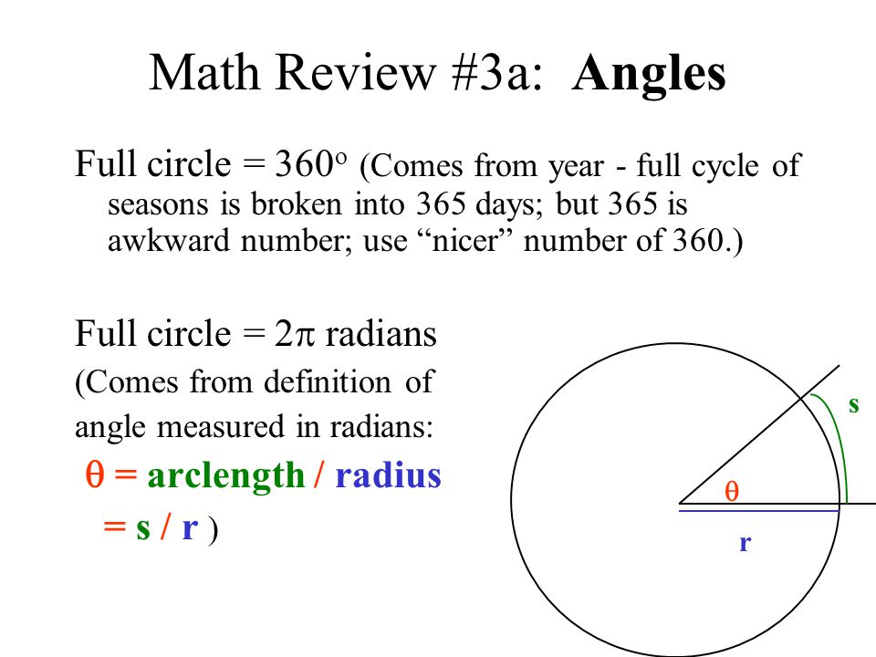 Math Review #3a: Angles