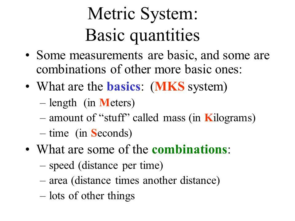 Metric System: Basic quantities