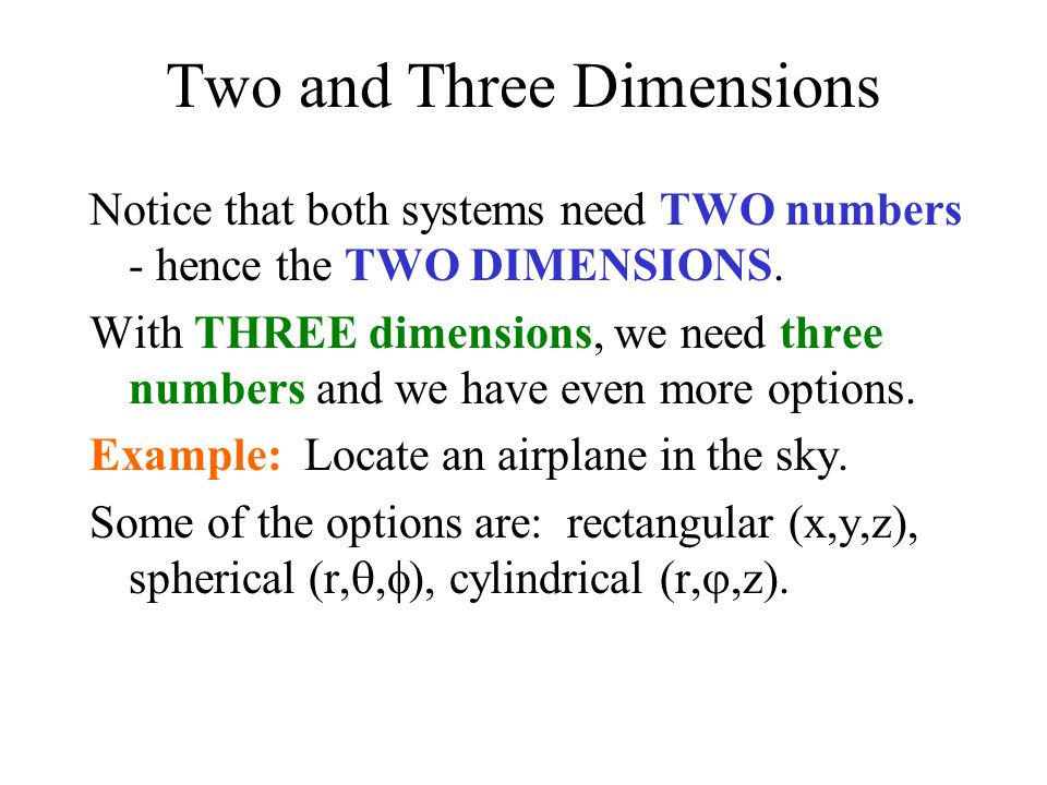 Two and Three Dimensions