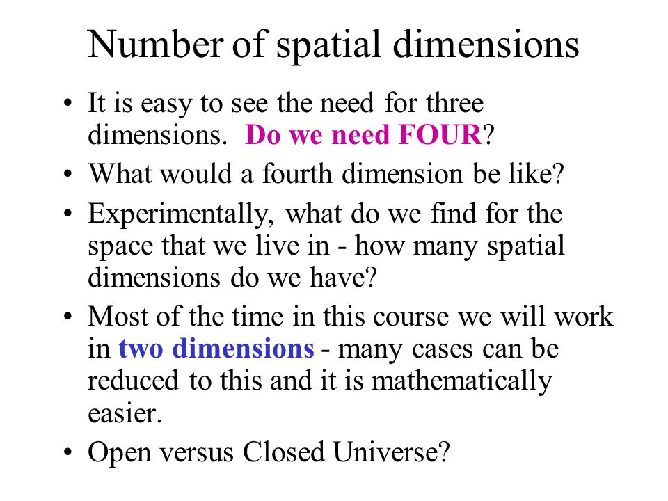 Number of spatial dimensions