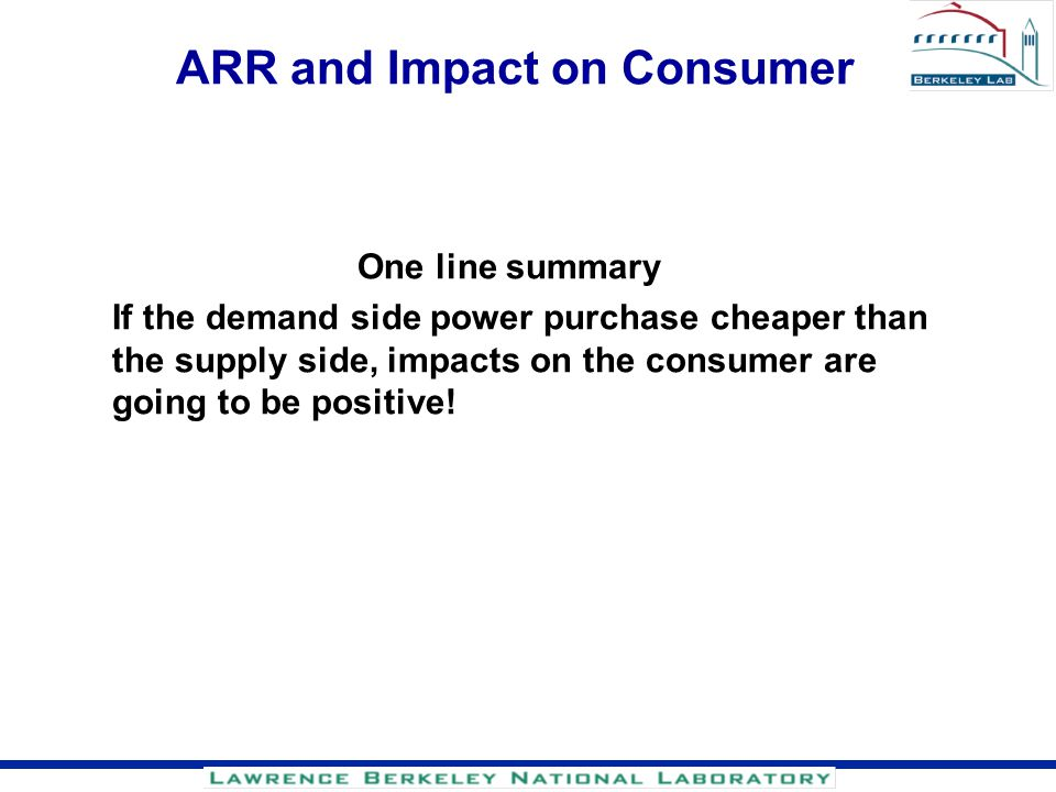 ARR and Impact on Consumer