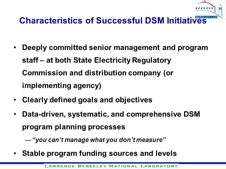 Characteristics of Successful DSM Initiatives