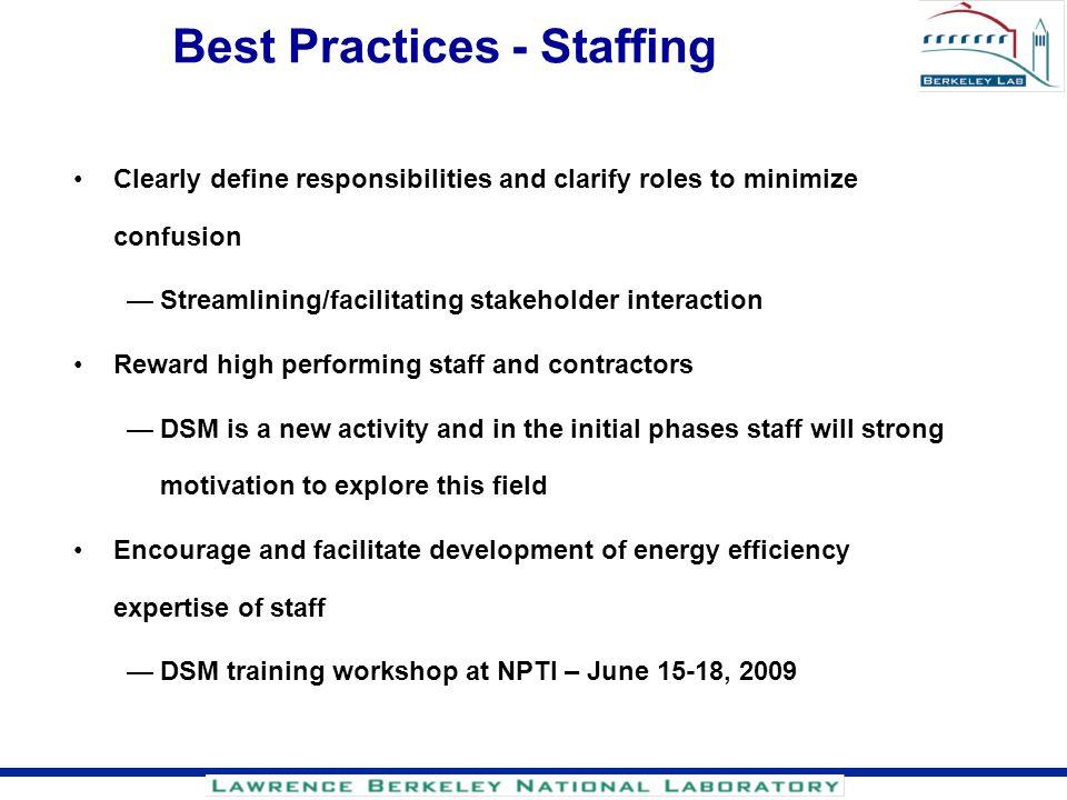 Best Practices - Staffing
