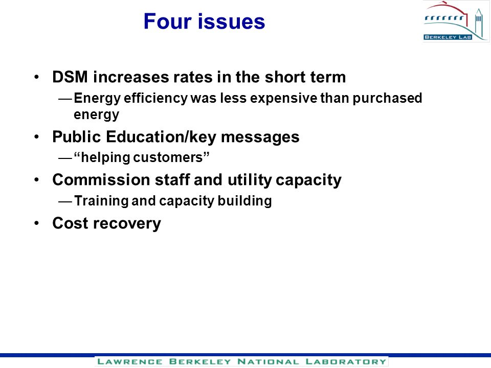 Four issues DSM increases rates in the short term