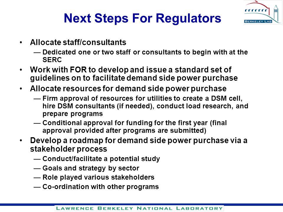Next Steps For Regulators