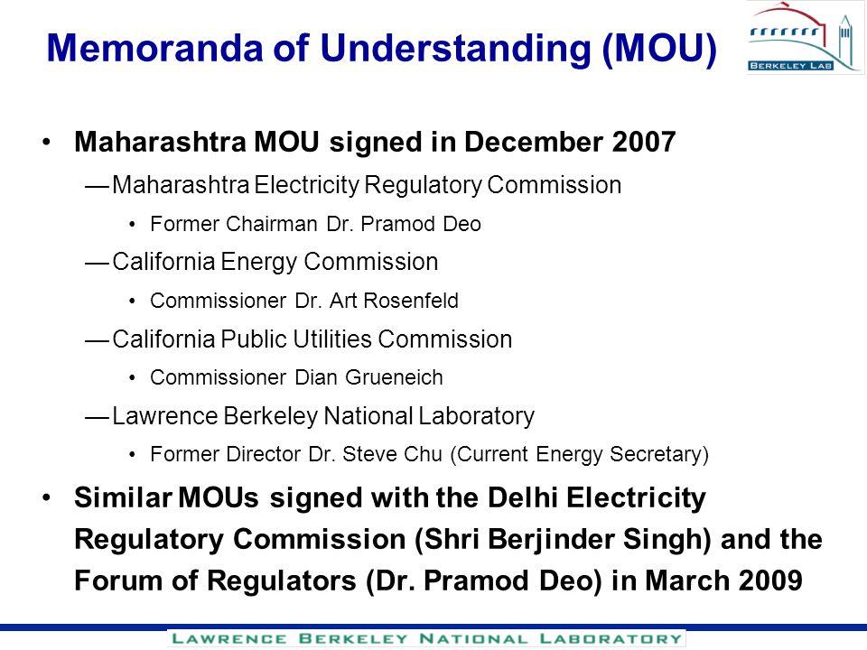 Memoranda of Understanding (MOU)