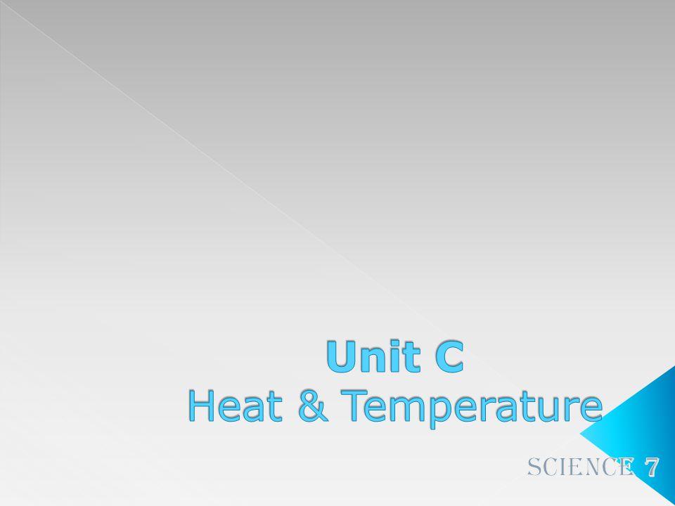 Unit C Heat & Temperature