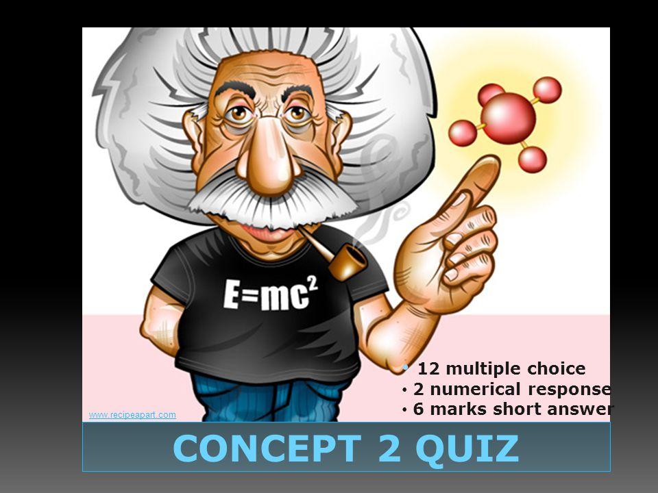 QUIZ on Concepts 1 & 2 CONCEPT 2 QUIZ 12 multiple choice