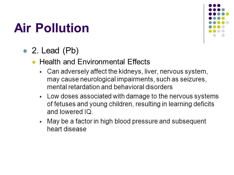 Air Pollution 2. Lead (Pb) Health and Environmental Effects