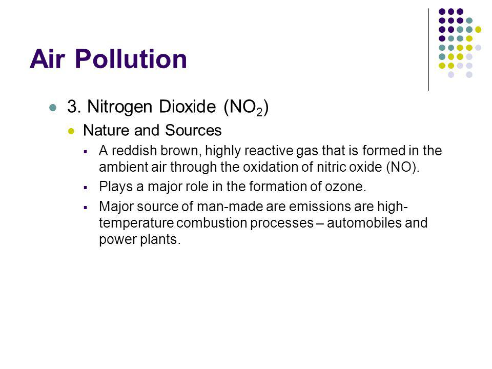 Air Pollution 3. Nitrogen Dioxide (NO2) Nature and Sources