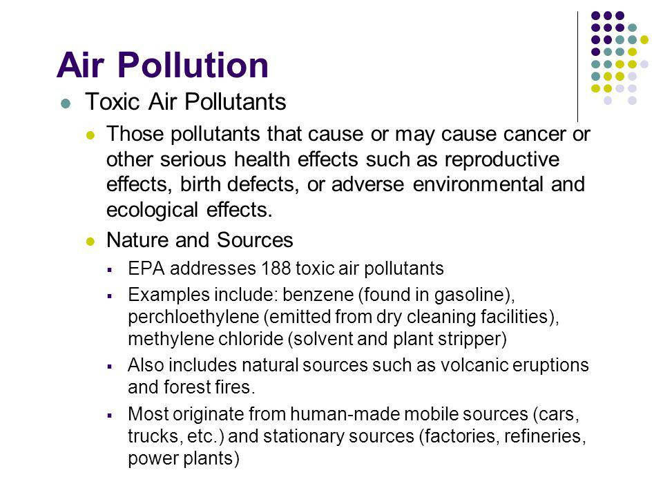 Air Pollution Toxic Air Pollutants