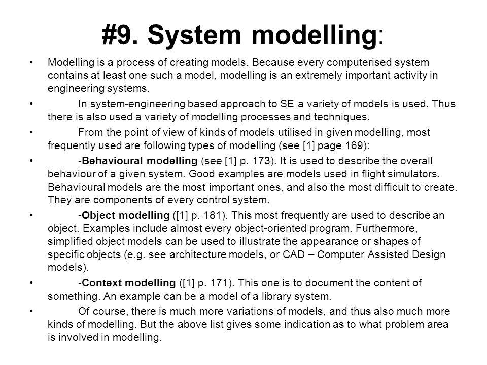 #9. System modelling: