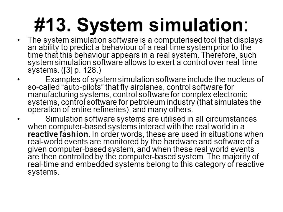 #13. System simulation: