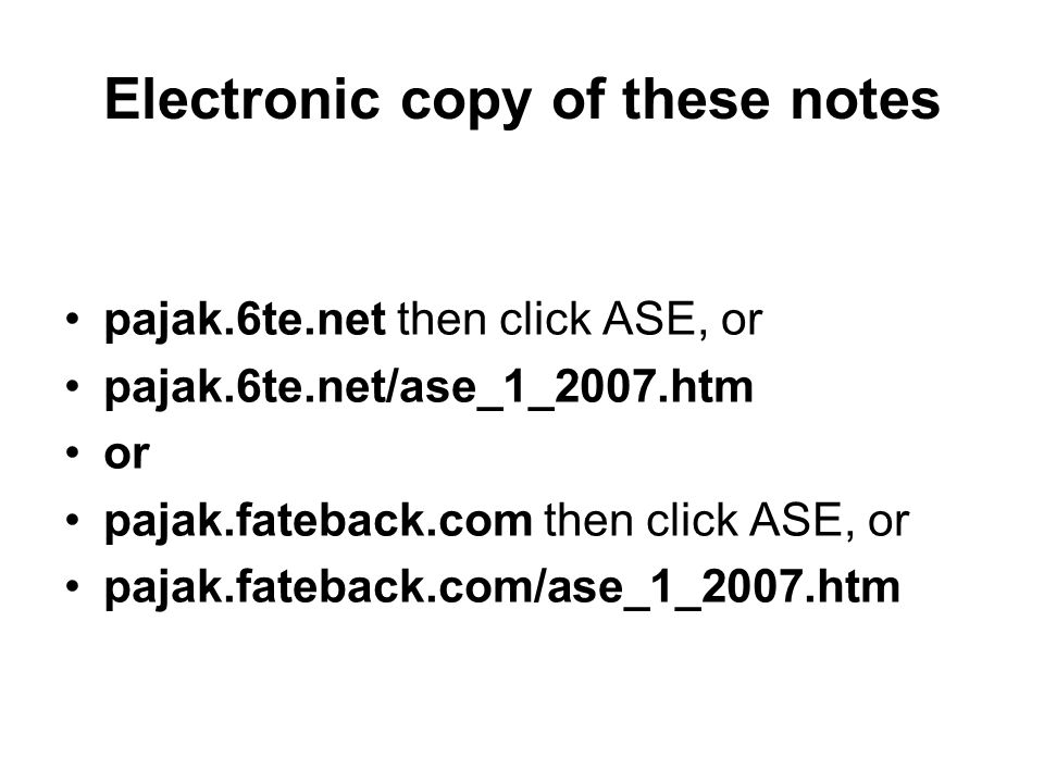 Electronic copy of these notes