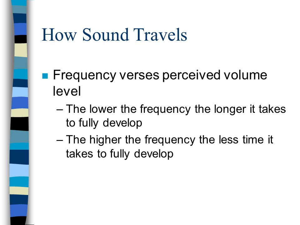 How Sound Travels Frequency verses perceived volume level