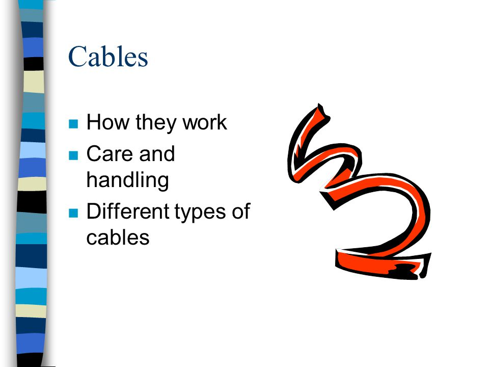 Cables How they work Care and handling Different types of cables