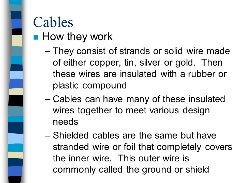 Cables How they work.