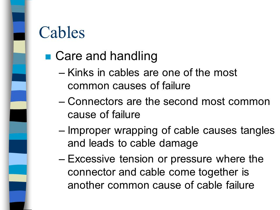 Cables Care and handling