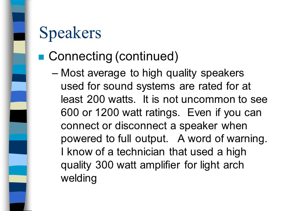 Speakers Connecting (continued)