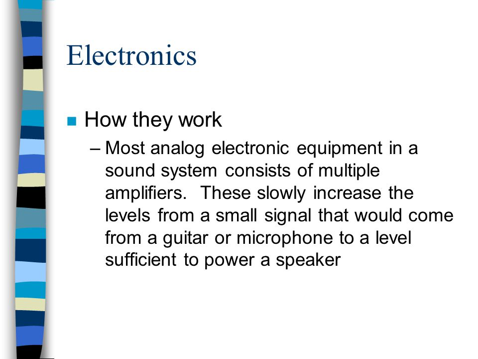 Electronics How they work