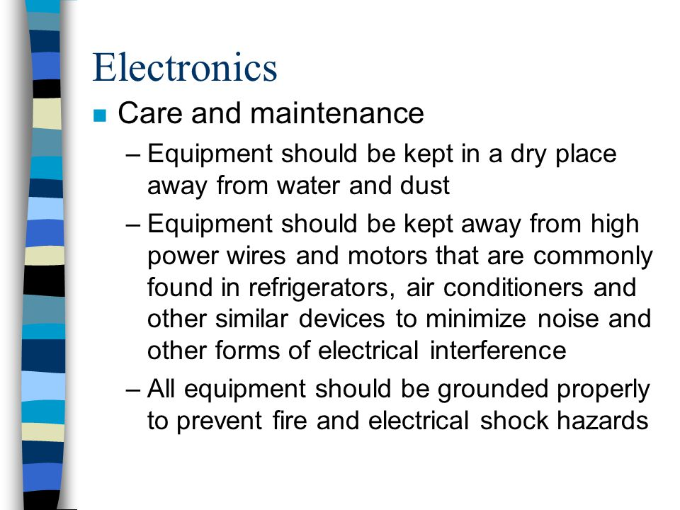 Electronics Care and maintenance