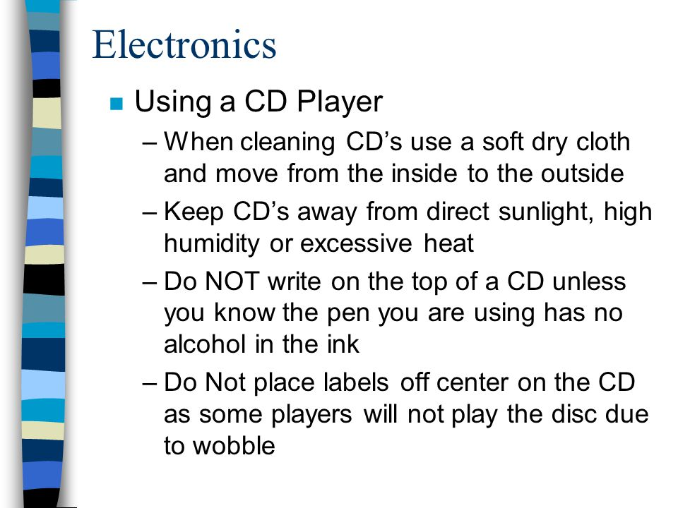 Electronics Using a CD Player