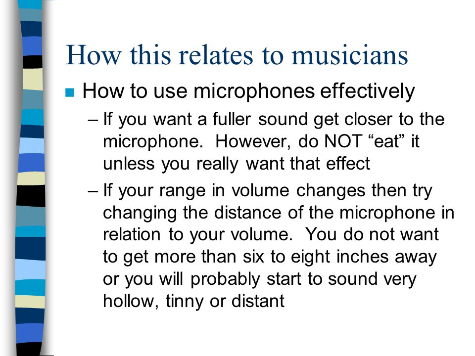 How this relates to musicians