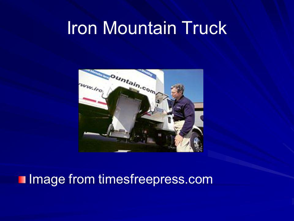 Iron Mountain Truck Image from timesfreepress.com