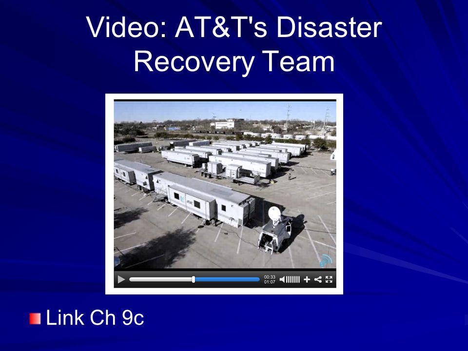 Video: AT&T s Disaster Recovery Team