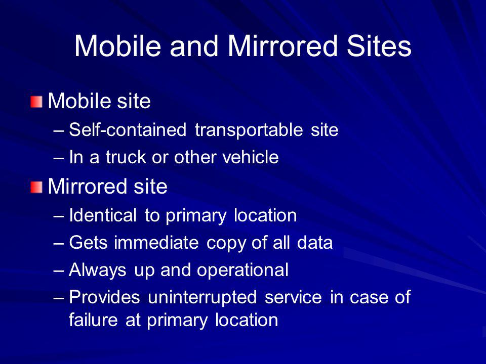 Mobile and Mirrored Sites