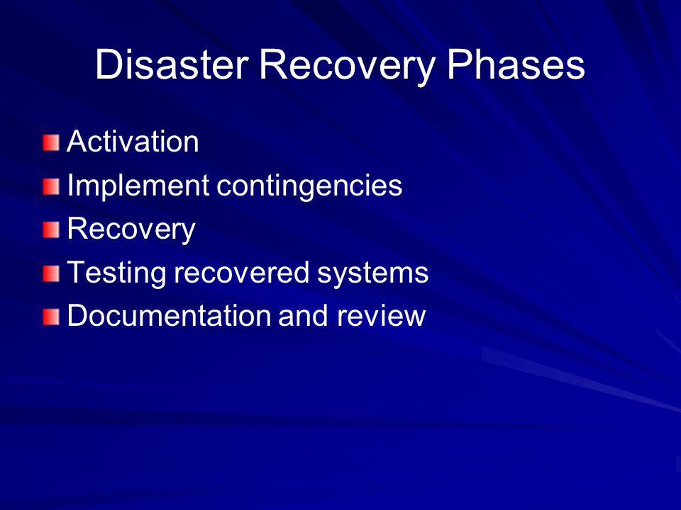 Disaster Recovery Phases