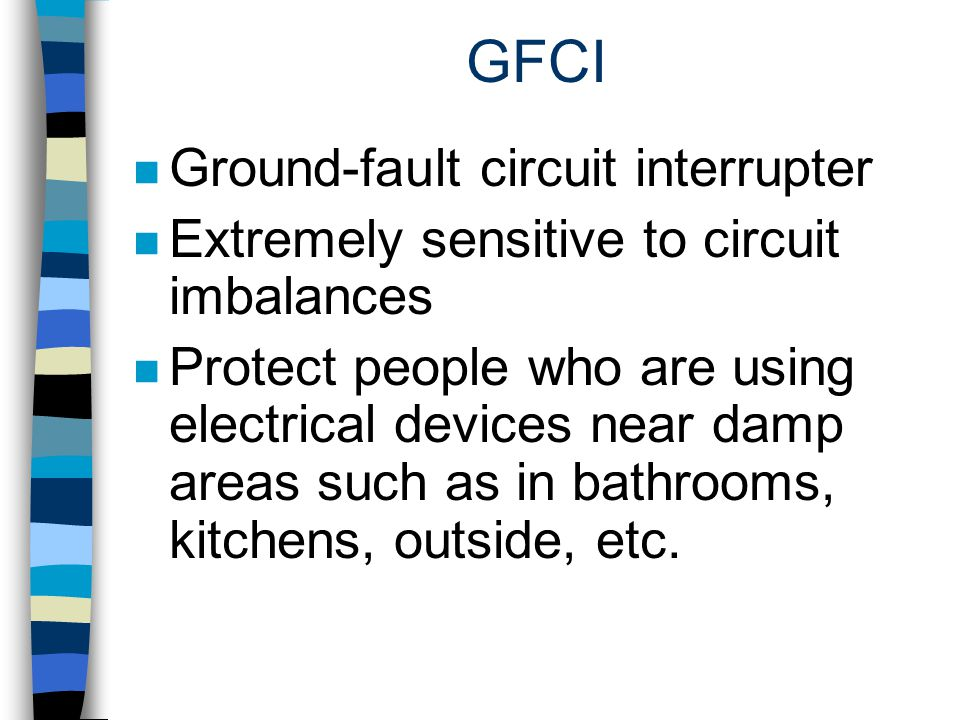GFCI Ground-fault circuit interrupter
