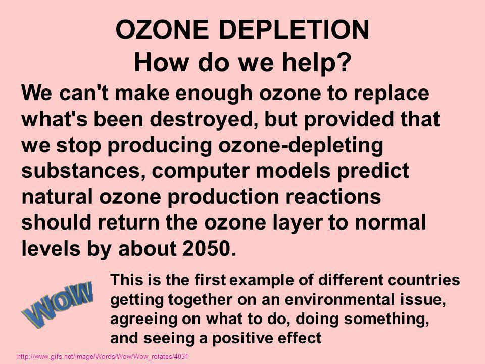 OZONE DEPLETION How do we help