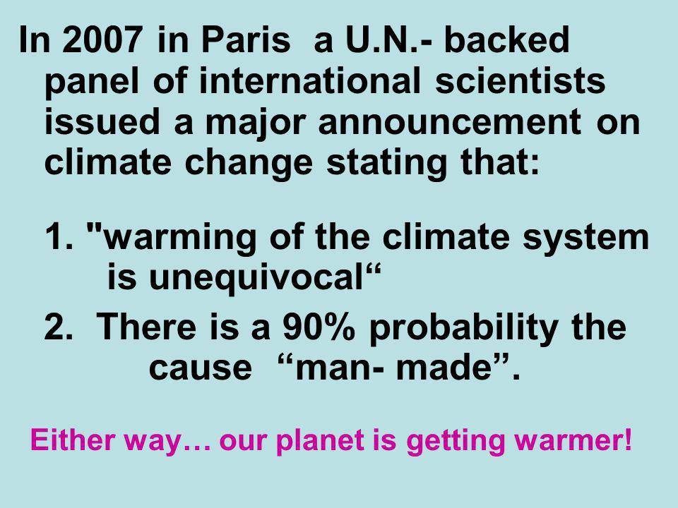 1. warming of the climate system is unequivocal