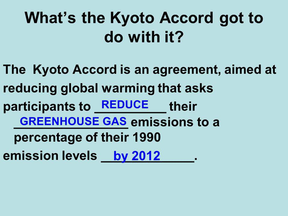 What's the Kyoto Accord got to do with it